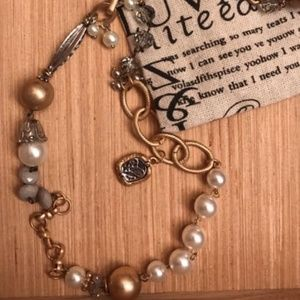 Plunder Gold Pearl and Silver long necklace